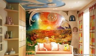 Çizgi Film Kahramanlı Çocuk Odası