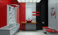 En Güzel Renkli Banyo Örneği