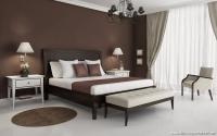 Kahverengi Beyaz Yatak Odası Modelleri