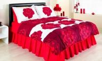 Kırmızı Güllü Uyku Seti