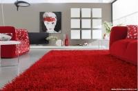 Kırmızı Koltuk Kırmızı Halı Dekorasyonu