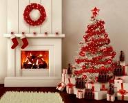 Kırmızı Temalı Yılbaşı Ev Dekorasyonu