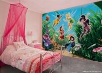 Kız Çocuk Odası Orman Perileri Duvar Kağıdı Fikirleri