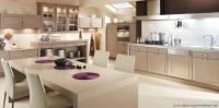 Lüks Kapuçino Rengi Mutfak Örneği