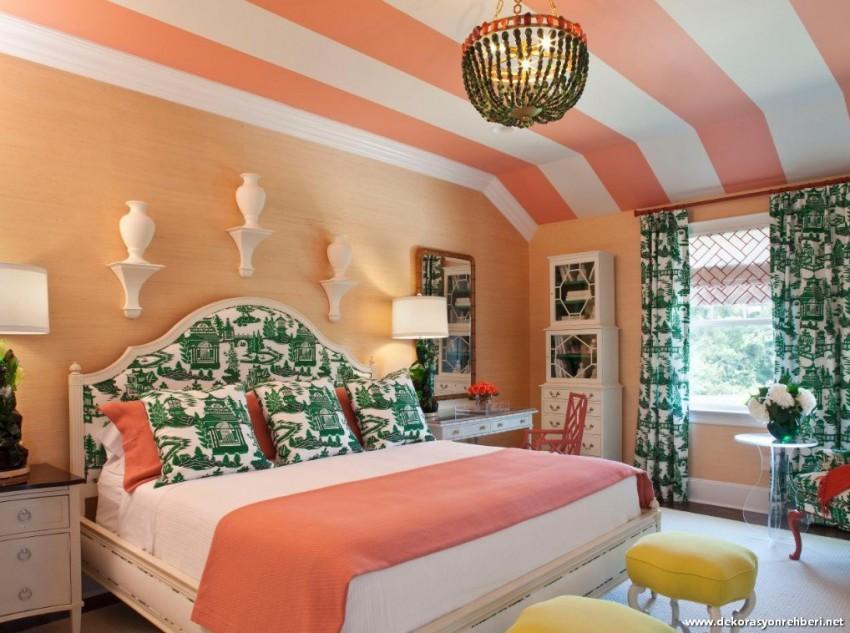 Mercan Renk Ev Dekorasyonu