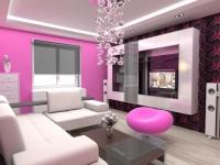 Pembe Duvarlı Ev Dekorasyonu