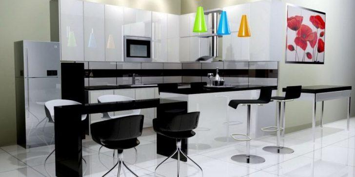 Karşıt Siyah Beyaz Mutfak Dekorasyonu Fikirleri