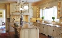 Sarı Duvarlı Mutfak Dekorasyonu