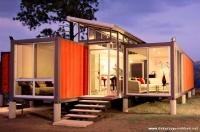 Şaşırtıcı Turuncu Desenli Konteyner Ev