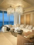 Mükemmel Işıklı Bej Salon Dekorasyonu