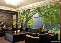 3 Boyutlu Orman Manzaralı Duvar Kağıdı
