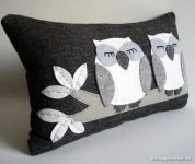 Baykuş Figürlü Dekoratif Keçe Yastık