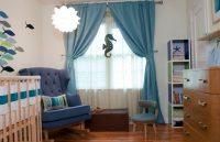 Bebek Odalarına Dekoratif Perde Modelleri
