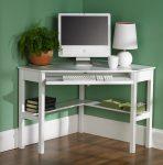 Beyaz Renk Ufak Bilgisayar Masası Modelleri