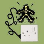 Elektrik Çarpmış Priz Stickeri