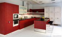 Kırmızı Beyaz En Güzel Mutfak Modelleri