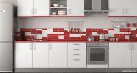 Kırmızı Beyaz Fayanslı Mutfak Önerileri