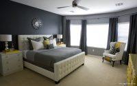 Koyu Perdeli Yatak Odası Tasarımları