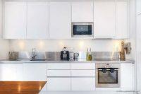 Küçük Mutfak İçin Beyaz Dolaplar