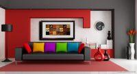 Modern Gri Koltuk Siyah Tonlarda Koltuk ve Duvar Boyası Renkleri