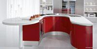 Modern Kırmızı Beyaz Mutfak Dekorasyonu
