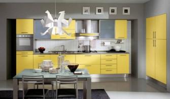 Modern Sarı Kullanışlı Mutfak Modeli