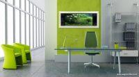 Pastel Renkli Akvaryum Dekorasyonu Ofis