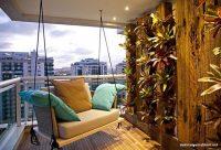 Sallanan Koltuklu Balkon Dekorasyon Fikirleri