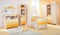 Sarı ve Turuncu Renk Tonlarında Bebek Odası Fikirleri