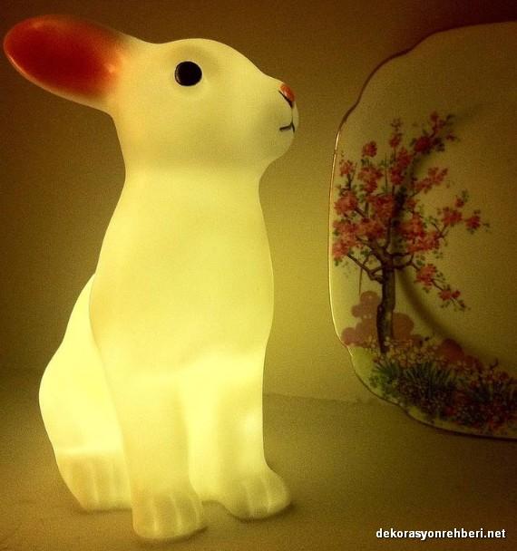 Tavşan Şeklinde Gece Lambası