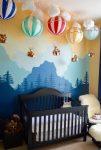Uçan Balonlu Bebek Odası Aksesuarları