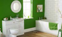 Yeşil Beyaz Banyo Dekorasyonu