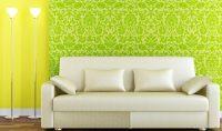 Yeşil Sarı Çiçekli Duvar Kağıtları
