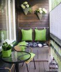 Yeşil Temalı Balkon Dekorasyonu