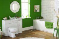 Yeşil Tonlarda Banyo Dekorasyonu