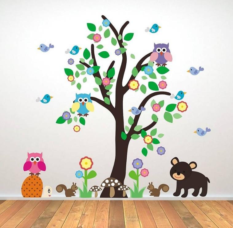 Ağaçlı Sticker Modeli