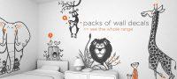 Aslan Fil Maymun Zürafalı Çocuk Odası Stickeri