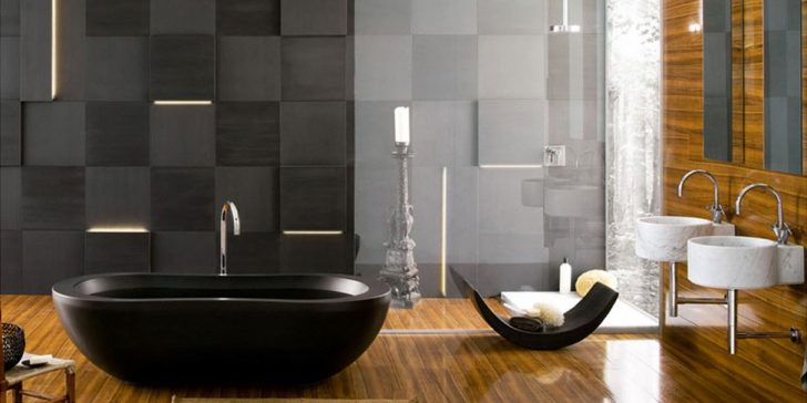 Asil ve Şık Siyah Banyo Dekorasyon Fikirleri