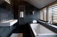 Göz Alıcı Siyah Banyo Dekorasyonu