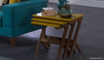 Bellona Sarı Vivent Zigon Sehpa Modeli