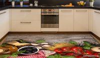 Sebze Desenli Mutfak Halı Modeli