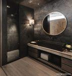 Siyah Tonlarda Banyo Modelleri