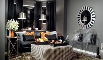Gümüş Rengi Oturma Odası