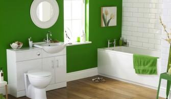 Yeşil Beyaz Banyo Renkleri