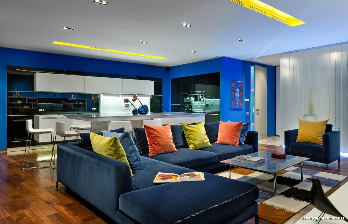 Modern Oturma Odası Renk Uyumu
