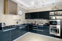 Modern Siyah Mutfak Dolabı