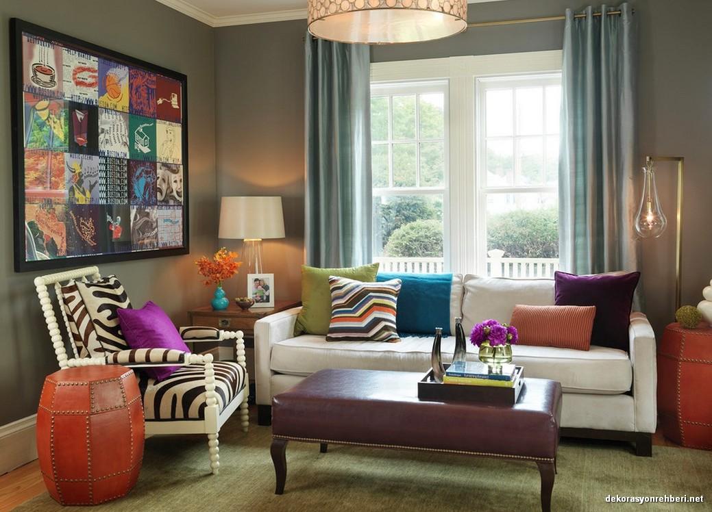 Oturma Odalarında Farklı Renklerin Uyumu